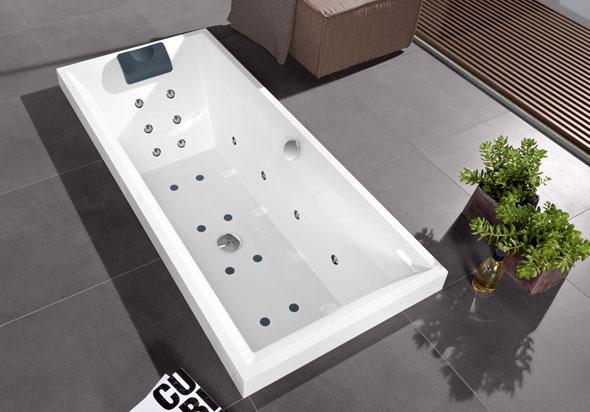 Квариловые ванны в интерьере