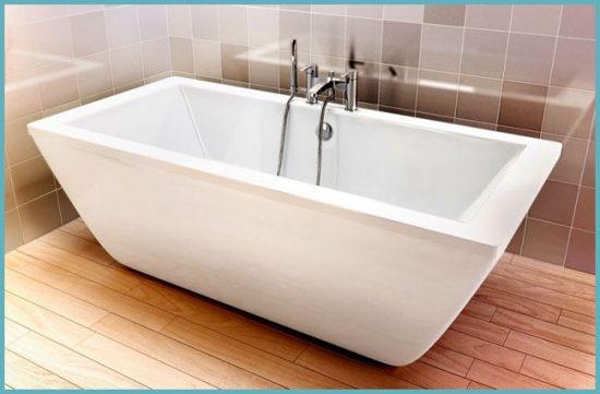 установка квариловой ванны