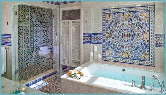 восточный стиль в интерьере ванной