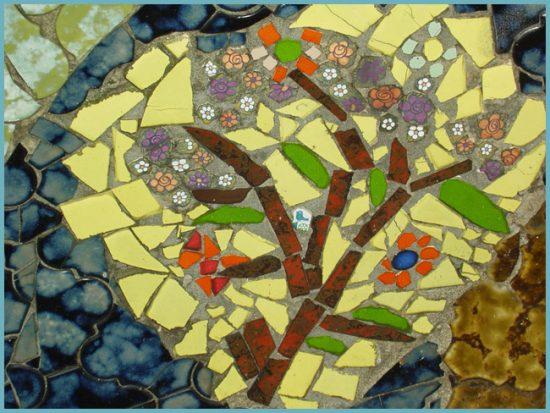 мозаика из битой плитки как сделать