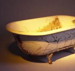 Печь для бани из чугунной ванны