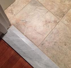 Как сделать порог в ванной комнате