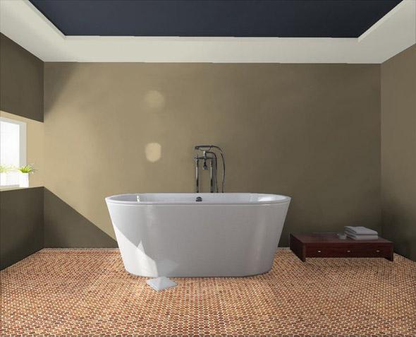 Пробковый пол для ванной комнаты