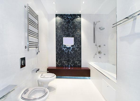 Стиль хай-тек в ванной