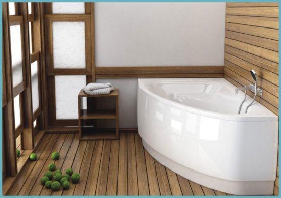 виды угловых ванн