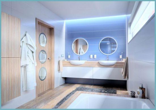 отделка ванной в морском стиле