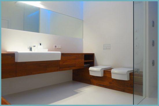 материалы для ванной в стиле минимализм