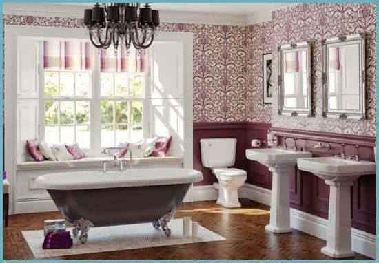 декор для ванной в английском стиле
