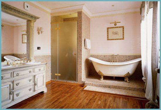 плитка для ванной в английском стиле
