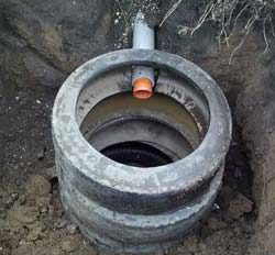 Выгребная яма из автомобильных шин