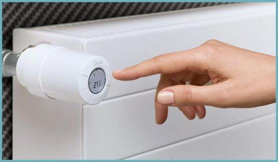 установка температуры радиатора