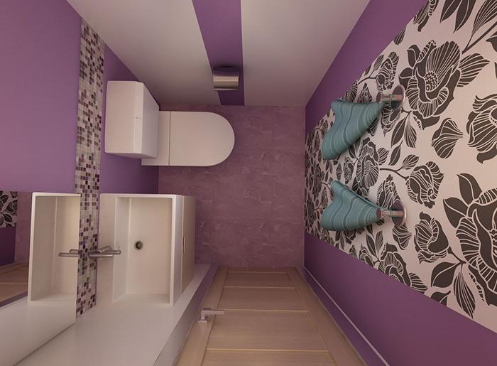 маленький туалет в квартире