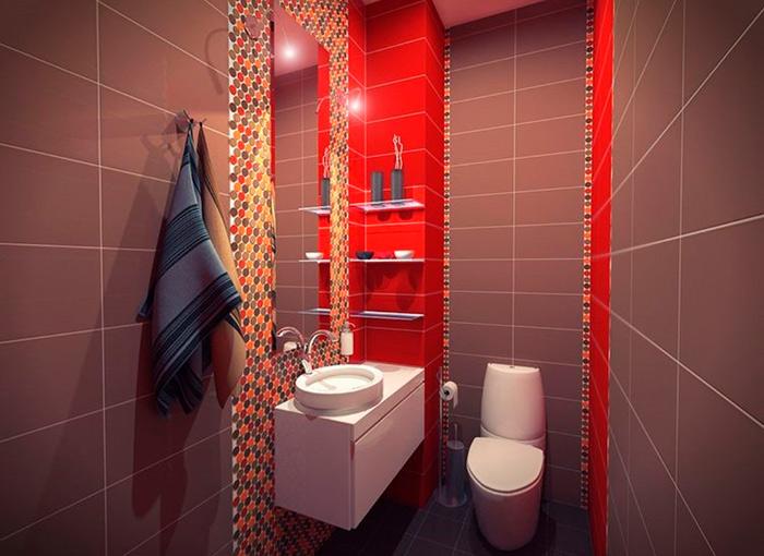 дизайн туалета в темных тонах