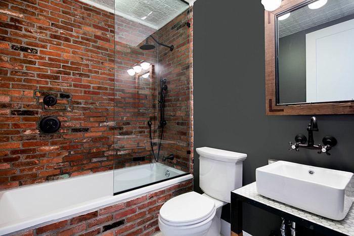 маленькая ванная лофт