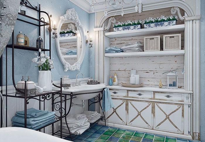 совмещенная ванная прованс