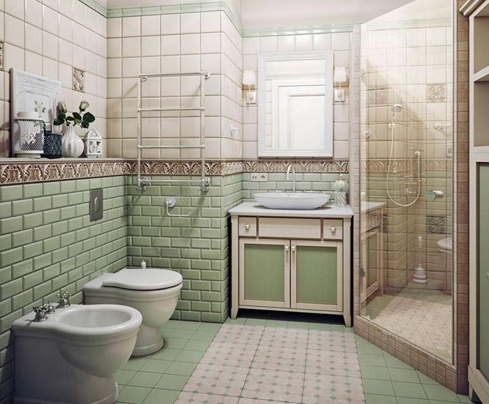 светлая ванная прованс