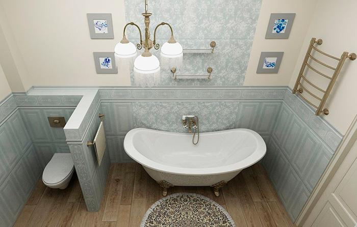 освещение ванной в стиле прованс