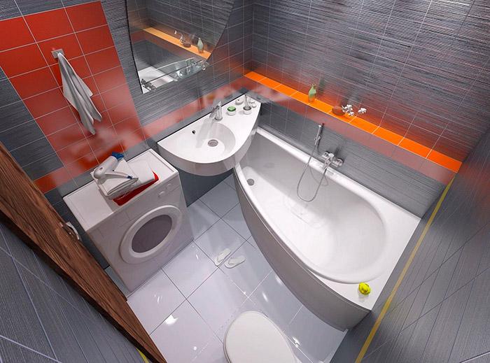 размещение умывальника над ванной