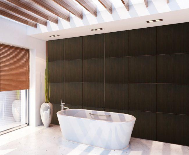 Ванная без плитки: идеи отделки и варианты оформления комнаты. Варианты отделки ванной комнаты без плитки