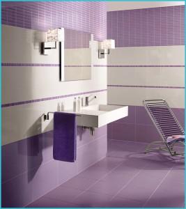 Дизайн фиолетовой ванной комнаты