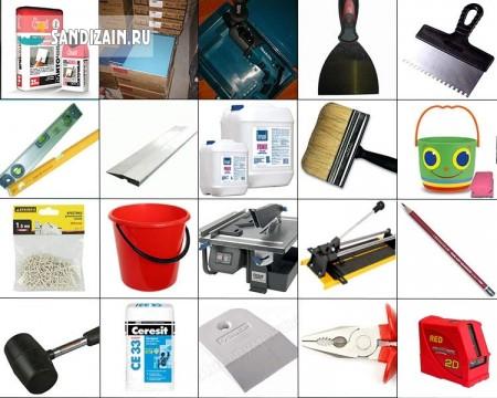 Инструменты и материалы для укладки плитки