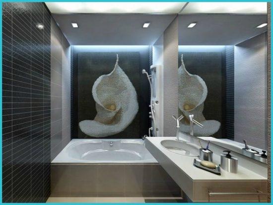 Зеркала в интерьере маленькой ванной комнаты