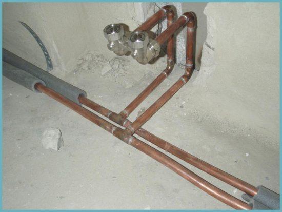 как сделать водопровод из медных труб