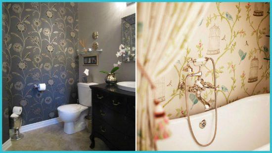 Как выбрать обои для ванной комнаты