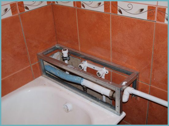 как сделать короб в ванной своими руками