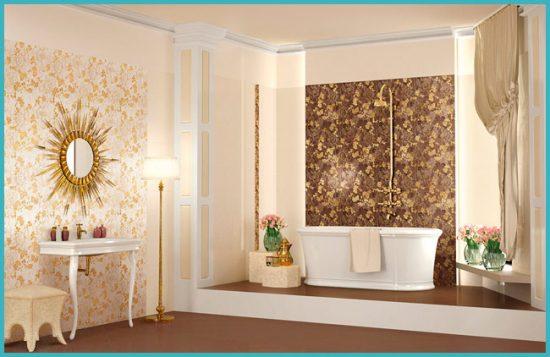 интересный интерьер ванной комнаты