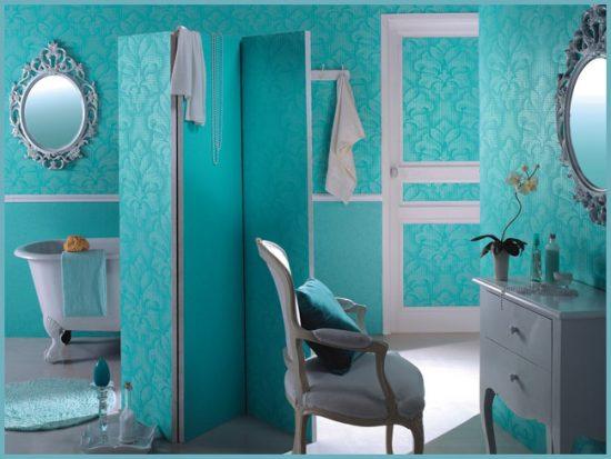 виды обоев для ванной комнаты