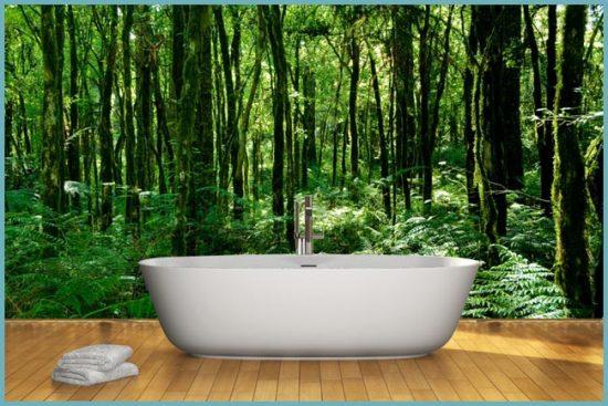 как выбрать фотообои для ванной
