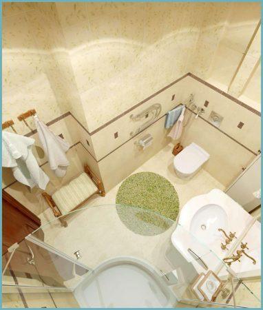 установка сантехники в совмещенной ванной комнате