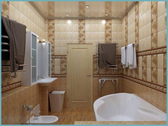 как обустроить совмещенную ванную комнату