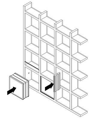 установка стеклоблоков на каркасе