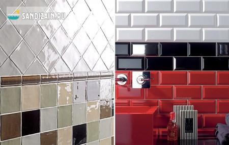 Варианты укладки настенной плитки