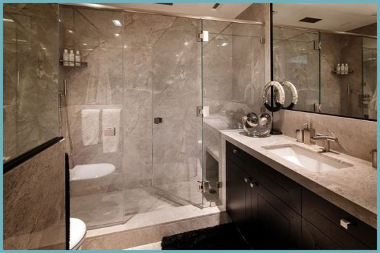 отделка ванной комнаты мрамором