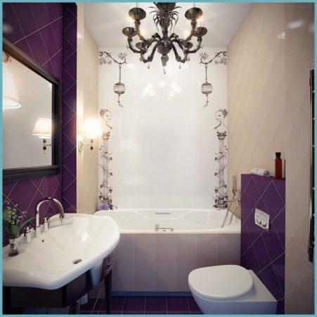 идея интерьера для маленькой ванной