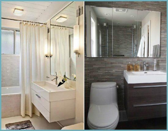 как зрительно увеличить пространство ванной