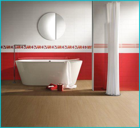 Дизайн красной ванной