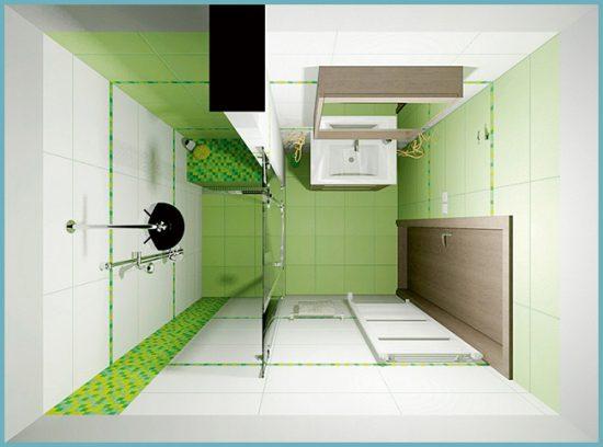 как распланировать место в ванной комнате 4 кв м