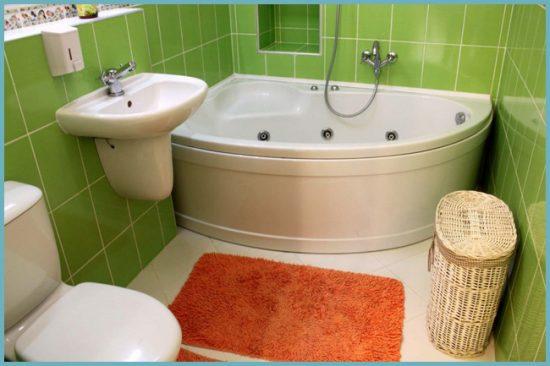 угловая ванна как разместить