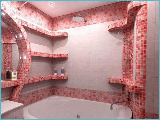 как оформить ванную мозаикой
