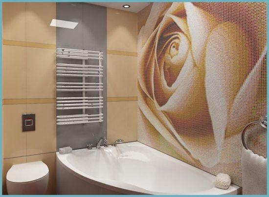 дизайнерский ремонт с мозаикой в ванной