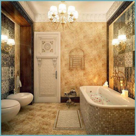 мрамор в ванной комнате