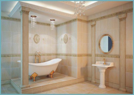 украшения для ванной комнаты в классическом стиле