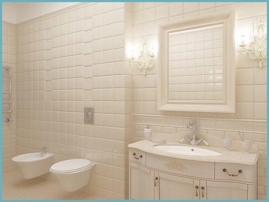 отделка стен ванной в стиле прованс