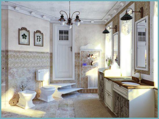 сантехника ванной в стиле прованс