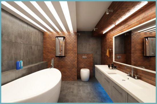 какой отделочный материал выбрать для ванной в стиле лофт