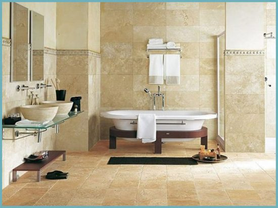 плитка в дизайне ванной